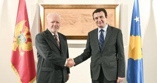 Kryeministri i Kosovës, Albin Kurti, ka pritur në takim ambasadorin e Malit të Zi, Ferhat Dinosha