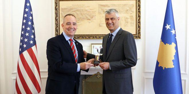 Me Gjeneralin amerikan nga Ajova, Timoti Orr është takuar edhe kryetari i Kosovës, Hashim Thaçi