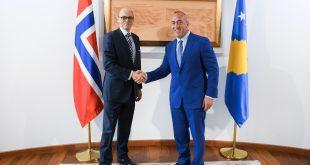 Haradinaj pret në takim Arne Sannes Bjornstad, përfaqësuesin Special për Ballkanin Perëndimor nga Norvegjia