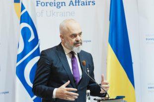 Kryeministri i Shqipërisë, Edi Rama, po qëndron në Kiev të Ukrainës, në cilësinë e kryetarit të OSBE-së