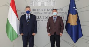 Ministri mbrojtjes Armend Mehaj pritiambasadorin e Republikës së Hungarisë, z. Joszef Bencze