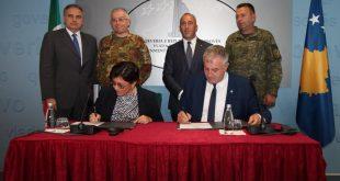 Nënshkruhet Memorandumi i Bashkëpunimit ndërmjet MFSK-së dhe Ministrisë të Mbrojtjes së Italisë