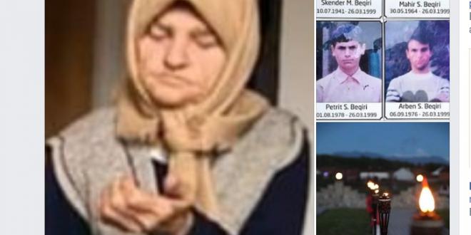 Selami Hoti: Edhe një nënë ikën nga kjo botë pa ditur varret e katër djemve dhe burrit të saj