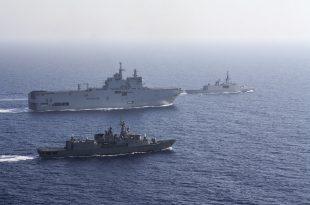 Franca ka filluar manovra detare me Marinën greke para ishullit të Kretës për ta frikësuar Turqinë