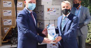 Ministri Zemaj dhe ambasadori Rohde marrin pjesë në dorëzimin e donacionit me mjete mbrojtëse kundër Covid-19