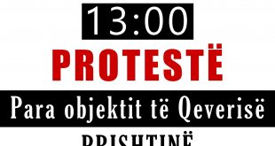 Këshilli Protestues Kundër Riorganizimit të Shkollave në Dardanë proteston të mërkurën para Qeverisë së Kosovës