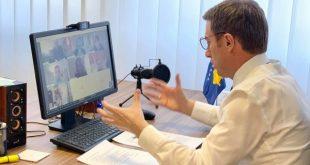 Ministri Reçica takohet virtual me drejtorin e Bankës Botërore për Kosovën, z. Massimiliano Paolucci
