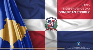 Ministrja e Jashtme, Meliza Haradinaj-Stublla uron Republikën Domenikane, me rastin e Ditës së Pavarësisë