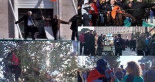 Deputetë të dhunshëm të PD-së kanë hyrë brenda Drejtorisë së Policisë duke kërkuar lirimin e protestuesve vandalë