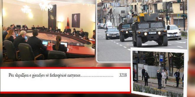 Shqipëria shpall gjendjen e fatkeqësisë natyrore në të gjithë territorin e saj për shkak të situatës të krijuar nga COVID-19