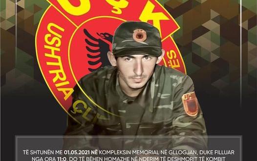 Nesër në Gllogjan nderohet dëshmori i kombit Agim Selmanaj në 22 vjetorin e rënies së tij heroike