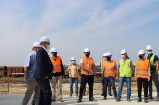 """Ministri i Ekonomisë, Blerim Kuçi ka vizituar sot Ndërmarrjen Publike të Infrastrukturës së Hekurudhave """"Infrakos"""""""