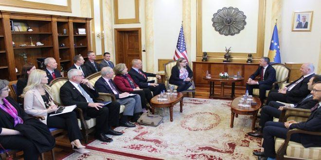 Kryekuvendari Veseli, priti sot në takim një delegacion nga Ajowa, kryesuar nga gjenerali Timothy Orr