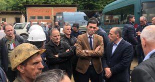 Endrit Shala dhe Ferat Shala, vizituan minierën e Artanës ku sot humbën jetën dy punëtorë