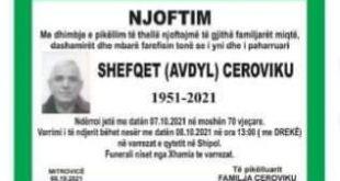 Ndahet nga jeta veterani i Ushtrisë Çlirimtare të Kosovës, Shefqet Avdyl Cervodiku