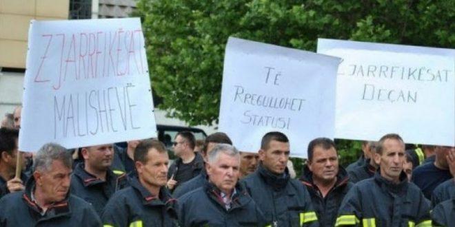 Zjarrfikësit të pakënaqur me kushtet e punës dhe pozitën e tyre, protestojnë të sot para Qeverisë së Kosovës