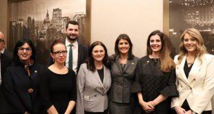Sahatqija e falënderon ambasadorën Nikki Haley për mbështetjen e SHBA-ve për anëtarësimin e Kosovës në Interpol
