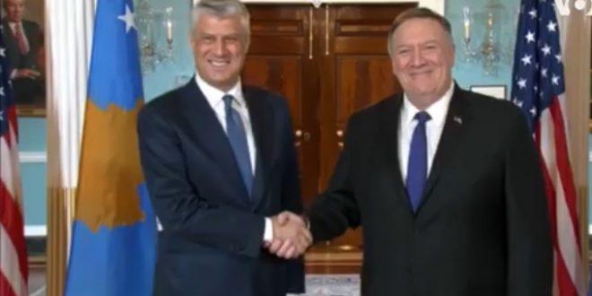 Thaçi: Kosova është e bekuar me partneritetin dhe besimin që gëzon në Shtetet e Bashkuara të Amerikës