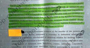 Dosja e Hagës kundër UÇK-së, e prezantuar në Top-Channel, është po ajo e Ministrisë së Serbisë së kohës së Milosheviqit
