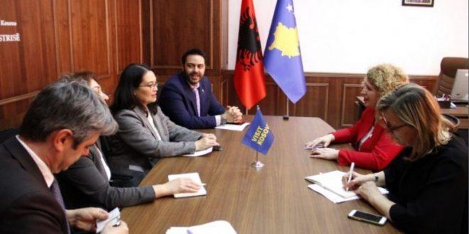 Ministrja Hajdari priti në takim drejtoreshën e USAID-it, Lisa Magno