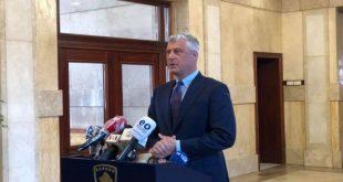 Thaçi: Jam detyruar duke respektuar Kushtetutën të nis konsultimet me partitë politike për formimin e institucioneve