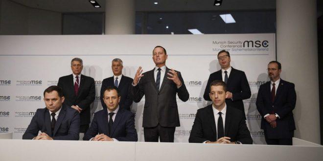 Qeveritarët e rinj nuk ishin të pranishëm në ceremoninë e nënshkrimit të marrëveshjes mes Kosovës e Serbisë, në Munih