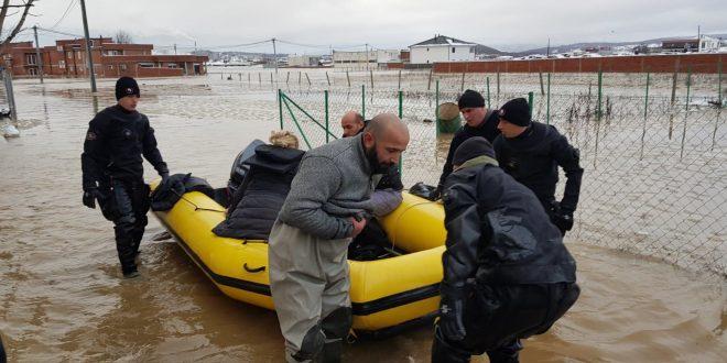 Angazhimi i njësiteve të FSK-së në operacionet e shpëtimit pas vërshimeve në Kosovë