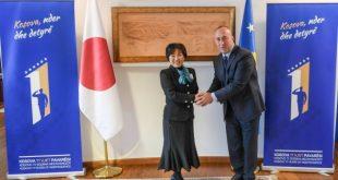 Kryeministri i vendit, Ramush Haradinaj është takuar sot me ministren e Punëve te Jashtme të Japonisë, Toshiko Ab