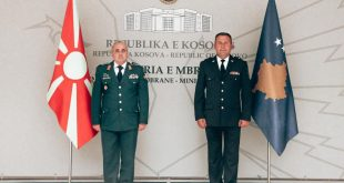 Ministri i Mbrojtjes, Armend Mehaj takohet me shefin e shtabit të përgjithshëm të forcave të armatosura të Maqedonisë së Veriut