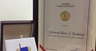 """Dëshmorët e kombit Ramiz Brahimaj dhe Sherif Brahimaj dekoruan me urdhërin """"Hero i Kosovës"""""""