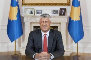 Kryetari Hashim Thaçi, përmes një video-mesazhi, është paraqitur para qytetarëve pas skandalit të Gjykatës Speciale