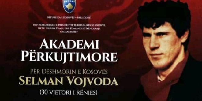 Me 20 shkurt 2020 mbahet Akademi përkujtimore për dëshmorin e kombit, Selman Vojvoda, në 30 vjetorin e rënies së tij