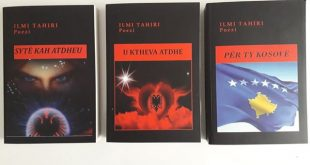 Poeti, Ilmi Tahiri nga Zhitia e Besianës, botoi tri vëllime poetike për Atdheun