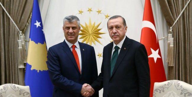 Kryetari i Kosovës, Hashim Thaçi e uron Erdoganin, për rizgjedhjen e tij në krye të shtetit turk