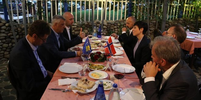 Kryetari Thaçi, mbremë ka pasur një darkë pune me Ministren e Jashtme të Norvegjisë, Ine Marie Eriksen Søreide