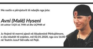 Mbahet Akademi përkujtimore për të ish-ushtarin e UÇK-së, UÇPMB-së dhe TMK-së, Avni Malë Hyeni