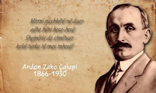 Andon Zako Çajupi (1886-1930), veprimtar atdhetar, krijues, dramaturg, publicist e përkthyes
