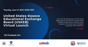 Sot në Prishtinë lansohet Bordi i Shkëmbimit Arsimor në mes Shteteve të Bashkuara të Amerikës dhe Kosovës