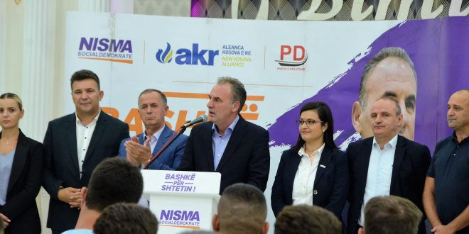 Fatmir Limaj: Rinia e Nismës në Malishevë e ka marrë flamurin e fitores për zgjedhjet e 6 tetorit