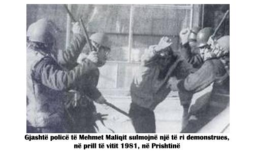 Dhuna ndaj protestuesve të vitit 1981