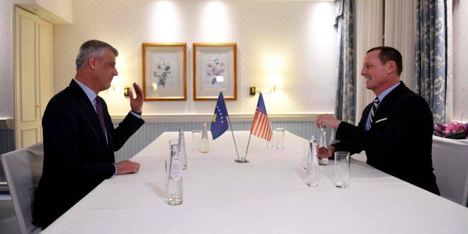 Thaçi: Jemi me fat që kemi vëmendjen e SHBA-ve, është jetike të arrihet një marrëveshje finale me Serbinë