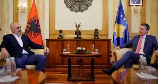 Kryetari i Kuvendit të Kosovës, Kadri Veseli, priti sot në takim kryeministrin e Shqipërisë, Edi Rama