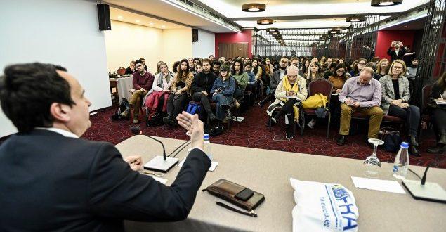 Kurti: Programi i Lëvizjes në qendër ka krijimin e vendeve të reja të punës dhe shtetndërtimin ku ka sundim të ligjit