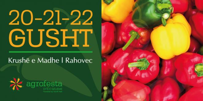 Festivali, AgroFesta sivjet mbahet më 20, 21 dhe 22 Gusht 2021