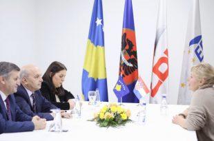 Kryetari i LDK-së, Isa Mustafa është takuar sot me ambasadoren e Kroacisë në Kosovë, Marija Kapitanoviq