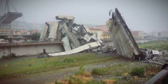 Bilanci i të vdekurve nga rrëzimi i një ure autostrade në qytetin italian të Gjenovës ka arritur në 35 veta