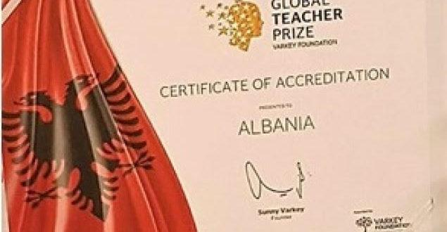 Shqipëria akreditohet si pjesëmarrëse për herë të parë në Çmimin Global të Mësuesit