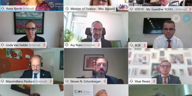 Guvernatori Mehmeti e realizon një takim virtual me zëvendës presidenten e Bankës Botërore, Anna Bjerde dhe ekipin e saj