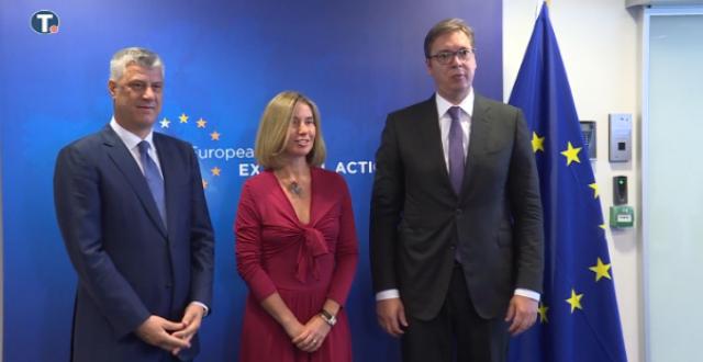 Kryetari i Kosovës, Hashim Thaçi dhe ai i Serbisë Aleksandër Vuçiq pritet që sot të zhvillojnë një takim në Bruksel