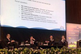 """Ministri, Lutfi Zharku merr pjesë në konferencën, """"Plani investiv për Evropë"""", që mbahet në Slloveni"""